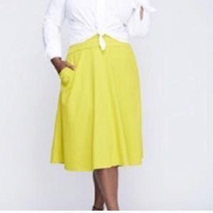 Lane Bryant lime chartreuse skirt NEW